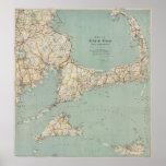 Mapa del vintage de Cape Cod (1917) Impresiones