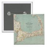 Mapa del vintage de Cape Cod (1917) Pin