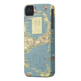 Mapa del vintage de Cape Cod (1940) iPhone 4 Cárcasa