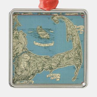 Mapa del vintage de Cape Cod (1945) Adorno