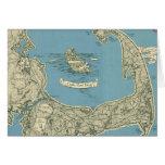 Mapa del vintage de Cape Cod (1945) Felicitación