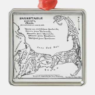 Mapa del vintage de Cape Cod Ornatos