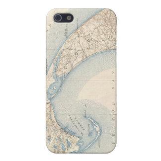 Mapa del vintage de Cape Cod más bajo iPhone 5 Cobertura