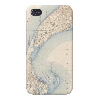 Mapa del vintage de Cape Cod más bajo iPhone 4 Coberturas