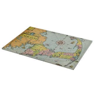 Mapa del vintage de Cape Cod Tabla Para Cortar