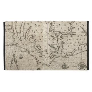 Mapa del vintage de Carolina del Norte costera 15