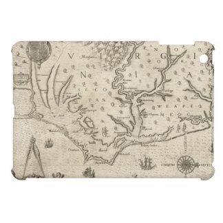 Mapa del vintage de Carolina del Norte costera 15 iPad Mini Funda