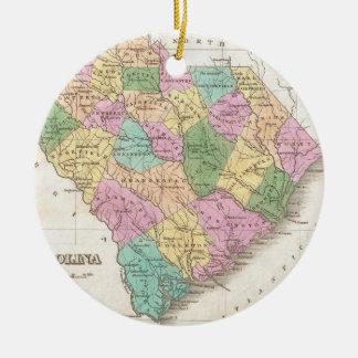 Mapa del vintage de Carolina del Sur (1827) Adorno De Reyes