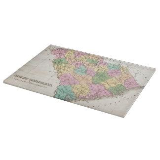 Mapa del vintage de Carolina del Sur (1827) Tabla Para Cortar