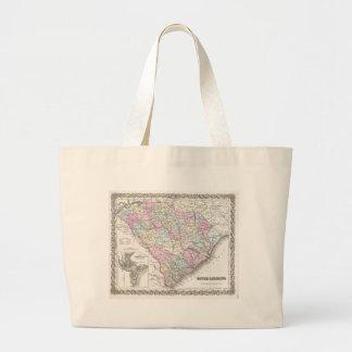 Mapa del vintage de Carolina del Sur (1855) Bolsas