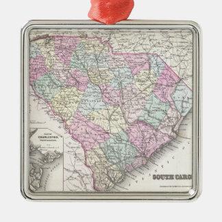 Mapa del vintage de Carolina del Sur (1855) Ornamento Para Reyes Magos
