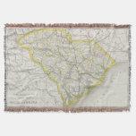 Mapa del vintage de Carolina del Sur (1889)