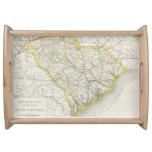 Mapa del vintage de Carolina del Sur (1889) Bandeja
