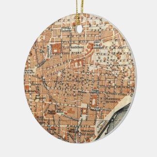 Mapa del vintage de Catania Italia (1905) Adorno De Reyes