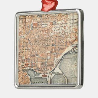 Mapa del vintage de Catania Italia (1905) Adorno Para Reyes