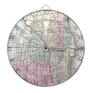 Mapa del vintage de Chicago (1855)