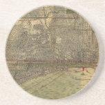 Mapa del vintage de Chicago (1892) Posavasos Diseño