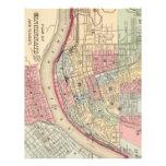 Mapa del vintage de Cincinnati (1780) Membrete