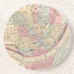 Mapa del vintage de Cincinnati (1780) Posavasos Manualidades