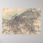 Mapa del vintage de Cleveland (1904) Impresiones