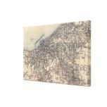 Mapa del vintage de Cleveland (1904) Lona Envuelta Para Galerias