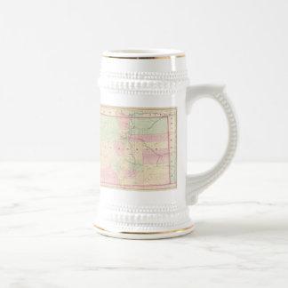 Mapa del vintage de Colorado (1874) Tazas De Café