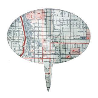 Mapa del vintage de COLORADO SPRINGS Decoración Para Tarta