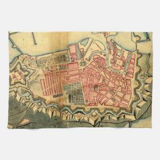 Mapa del vintage de Copenhague Dinamarca (1728) Toalla