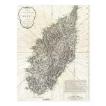 Mapa del vintage de Córcega (1794) Postal