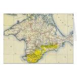 Mapa del vintage de Crimea (1922) Tarjeta
