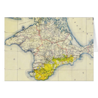 Mapa del vintage de Crimea (1922) Tarjeta De Felicitación