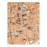 Mapa del vintage de Darmstad Alemania (1905) Tarjetas Postales