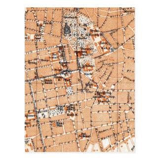 Mapa del vintage de Darmstad Alemania (1905) Postal
