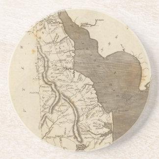 Mapa del vintage de Delaware (1804) Posavasos Diseño