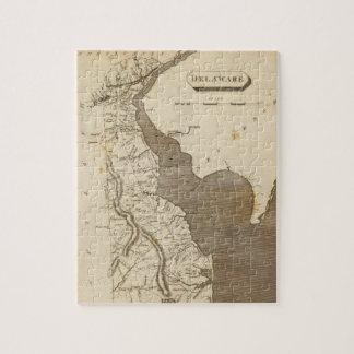 Mapa del vintage de Delaware (1804) Puzzle