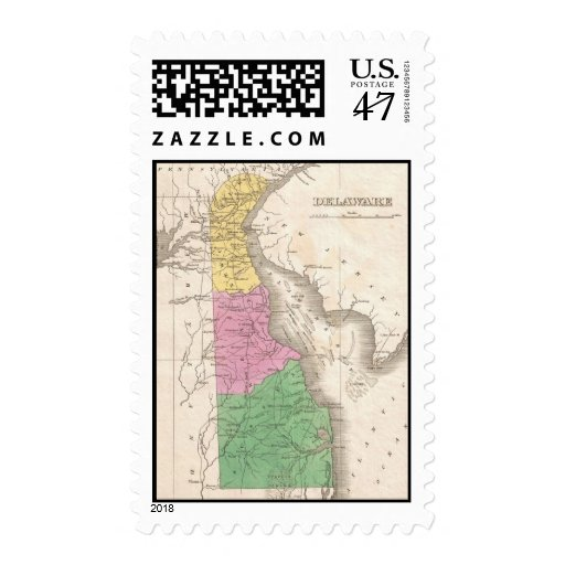 Mapa del vintage de Delaware (1827) Estampillas