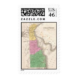 Mapa del vintage de Delaware 1827