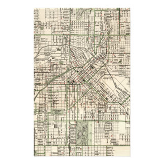 Mapa del vintage de Denver Colorado (1920) Papeleria De Diseño