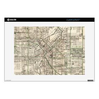 Mapa del vintage de Denver Colorado (1920) Portátil 38,1cm Skin