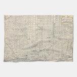 Mapa del vintage de Detroit (1895) Toalla De Mano