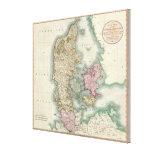 Mapa del vintage de Dinamarca (1801) Impresion En Lona