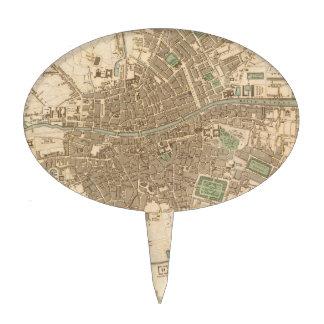 Mapa del vintage de Dublín 1836 Figura De Tarta