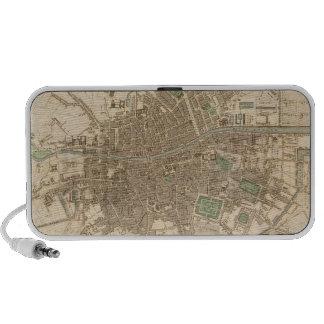Mapa del vintage de Dublín 1836 Portátil Altavoces