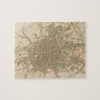 Mapa del vintage de Dublín 1836 Puzzle