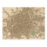 Mapa del vintage de Dublín (1836) Tarjeta Postal