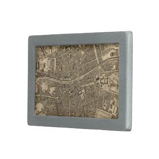Mapa del vintage de Dublín Irlanda 1797 Hebilla Cinturón