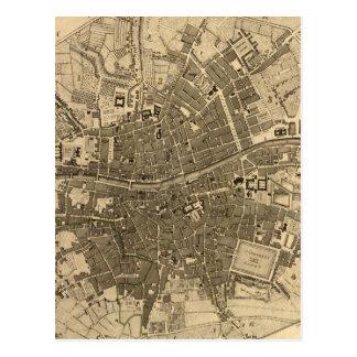 Mapa del vintage de Dublín Irlanda (1797) Tarjeta Postal