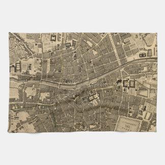 Mapa del vintage de Dublín Irlanda 1797 Toallas
