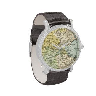 Mapa del vintage de Dublín y de los alrededores (1 Relojes