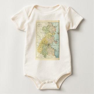Mapa del vintage de Dublín y de los alrededores Mamelucos De Bebé